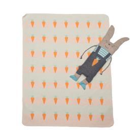 DAVID FUSSENEGGER Sarjahuopa nukkikaniinilla, valkoinen 70 x 90 cm