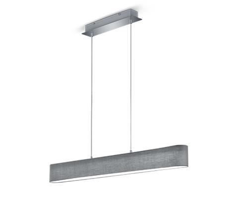 Lugano LED riippuvalaisin 100 cm harmaa