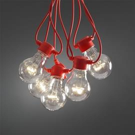 Konstsmide-valosarja, 10 osaa, LED, punainen