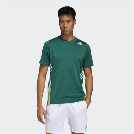 Adidas M FL 3S+ TEE COLLEGIATE GREEN