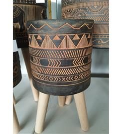 Kairo musta/ruskea 23cm ruukku