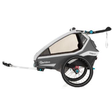 Qeridoo® Polkupyörän peräkärry Kidgoo 1 harmaa