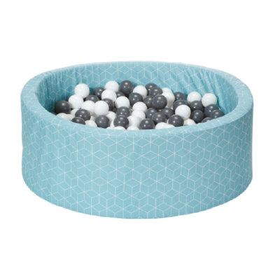 knorr® toys pallokylpy pehmeä - Geo-kuutio neo minttu sisältää 300 palloa harmaa / kerma