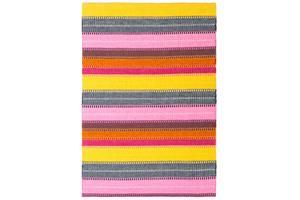Lollipop-matto, pinkki-kelta-harmaa 200x290