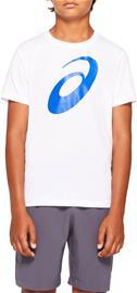Asics Big Spiral T-Paita, Brilliant White, S