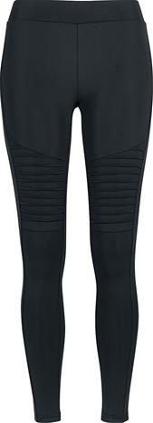 Urban Classics - Ladies Tech Biker Leggings - Leggingsit - Naiset - Musta