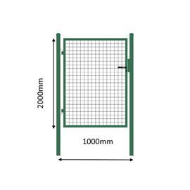 Käyntiportti, 1000 mm levyinen, korkeus 2000 RAL6005