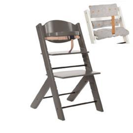 Treppy® syöttötuoli harmaa + ilmainen istuintyyny Stars