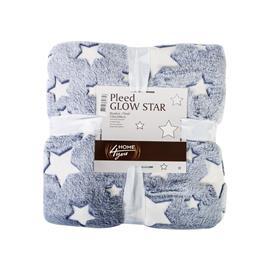 Torkkupeitto GLOW STAR 150x200cm, sininen