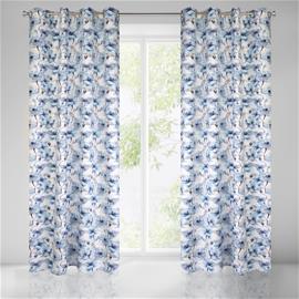 Verho Willow, valkoinen ja sininen, 135 x 250 cm, 1 kpl