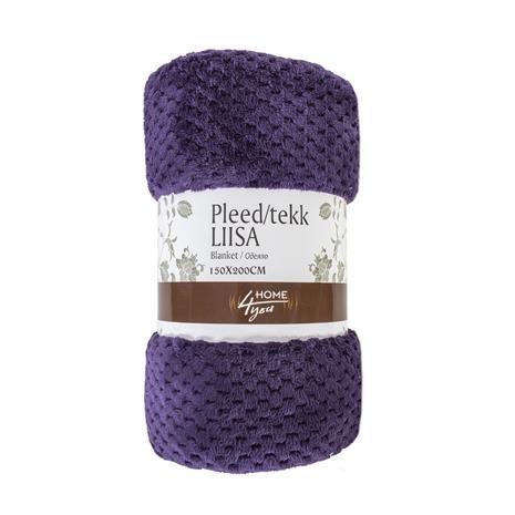 Torkkupeitto LIISA CORAL 150x200cm, 100% polyesteri, violetti