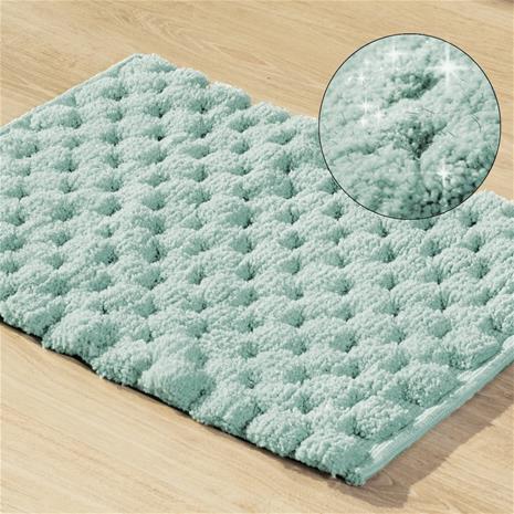 Kylpyhuoneen matto Lucas, minttu, 50 x 70 cm