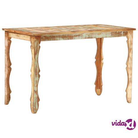 vidaXL Ruokapöytä 120x60x76 cm täysi kierrätetty puu