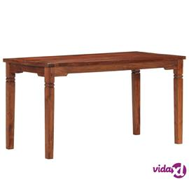 vidaXL Ruokapöytä 140x70x76 cm täysi akaasiapuu
