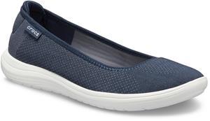 Crocs Reviva Flat Sandaalit Naiset, navy/white