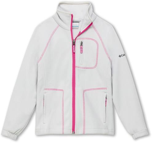 Columbia Fast Trek II Full Zip Jacket Youth, silver grey/pink ice