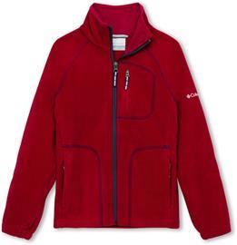 Columbia Fast Trek II Full Zip Jacket Youth, pomegranate/nocturnal