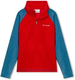 Columbia Glacial Half Zip Pullover Boys, mountain red/blue heron