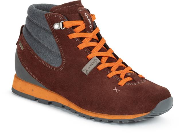AKU Bellamont Gaia GTX Mid Kengät Naiset, wine red/orange