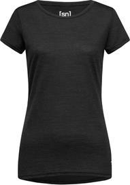 super.natural Everyday T-paita Naiset, jet black melange