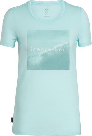Icebreaker Tech Lite Cadence Pulse Lyhythihainen paita Naiset, wavelogo/aqua splash