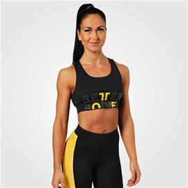 Bowery Sports Bra, Black/Yellow