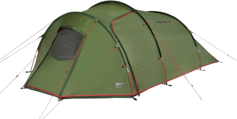 High Peak Goshawk 4 Tent, pesto/red