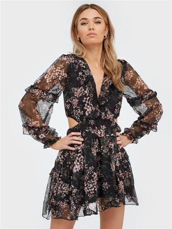 Ax Paris Flower Mesh Mini Dress