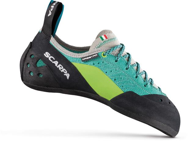 Scarpa Maestro ECO Climbing Shoes Women, green blue