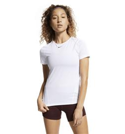 Nike W ALL OVER MESH SS TOP WHITE/BLACK