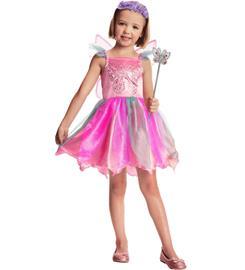 Lasten pinkki keiju asusetti 98-110 cm