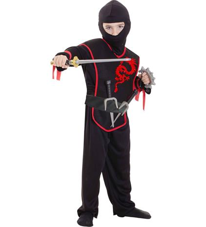 Lasten ninja asusetti 98 -110 cm
