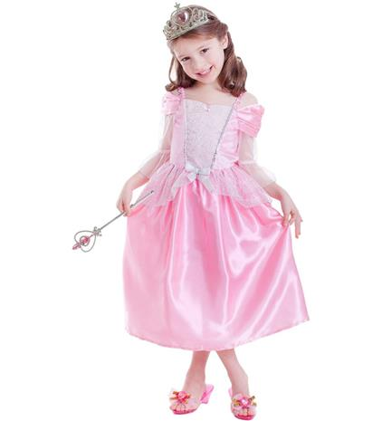 Lasten prinsessa asusetti 98-110 cm