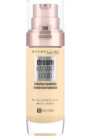 Maybelline - Dream Radiant Liquid Foundation - 10 Ivory