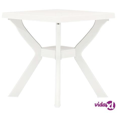 vidaXL Bistropöytä valkoinen 70x70x72 cm muovi