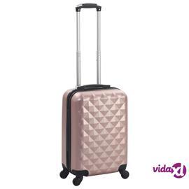 vidaXL Kovapintainen matkalaukku ruusukulta ABS, Matkalaukut