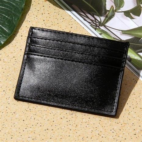 Slim korthållare/ Plånbok i svart PU-läder, NativitySets