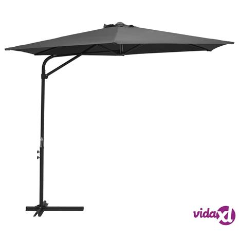vidaXL Aurinkovarjo terästanko 300x250 cm antrasiitti