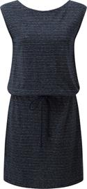 tentree Icefall Dress Women, dark ocean blue/elm white stripe