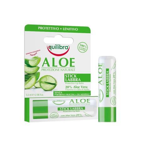 Equilibra Aloe -suojaava huulivoide, 5,5 ml