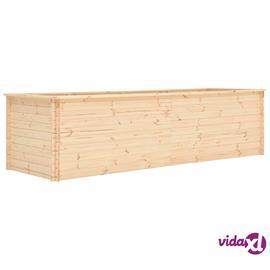 vidaXL Kukkalaatikko 300x100x80,5 cm mänty 19 mm