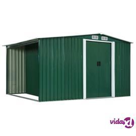 vidaXL Puutarhavaja liukuovilla vihreä 329,5x131x178 cm teräs