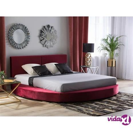 Beliani Vesisänky 180 x 200 cm samettinen punainen LAVAL