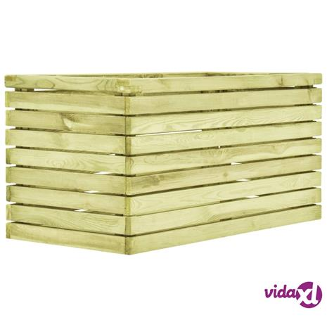 vidaXL Kukkaruukku 100x50x50 cm kyllästetty mänty