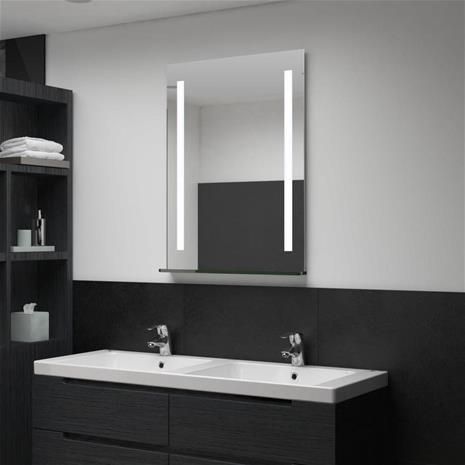 vidaXL vægspejl med LED til badeværelset 60 x 80 cm