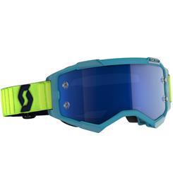 Scott MX Fury teal blue/neon yellow electric blue chrome works ajolasit