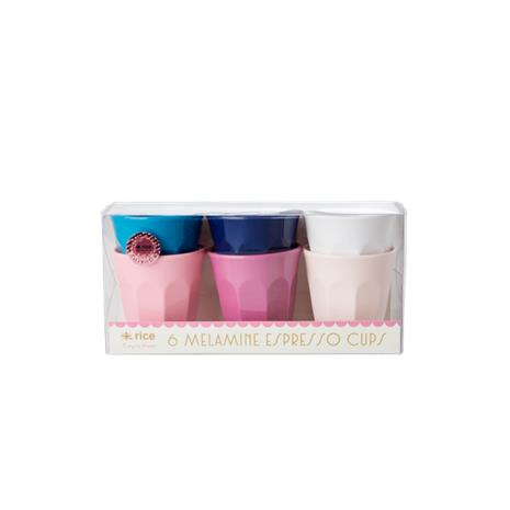 Rice - 6 Melamine Espresso Cups - Simply Yes
