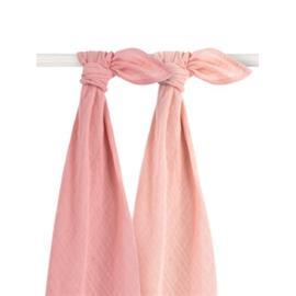 jollein Bambuharsovaipat 2-pakkaus vaaleanpunainen 115x115cm
