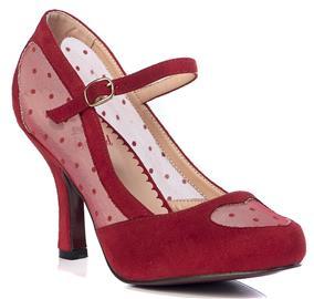 Banned Retro - Elegant Spots - Korkokengät - Naiset - Punainen