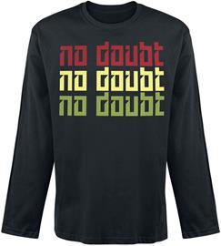 No Doubt - Tri Colour - Pitkähihainen paita - Miehet - Musta